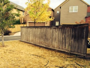 Before Fence Pressure Washing Vancouver, WA
